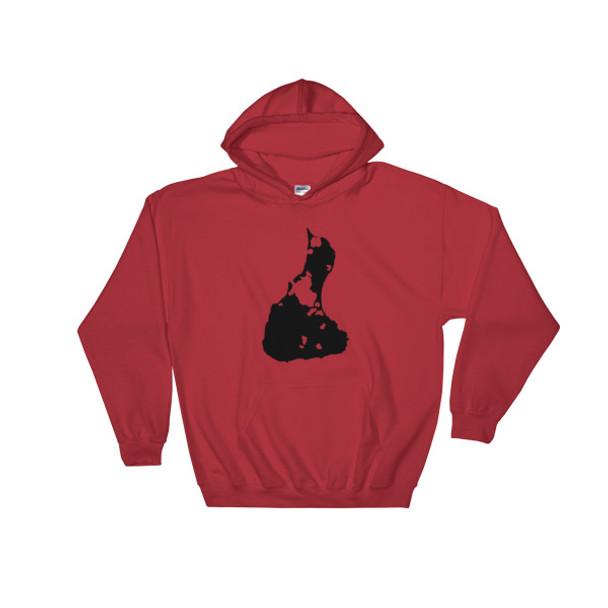 Block Island Black Logo Hooded Sweatshirt