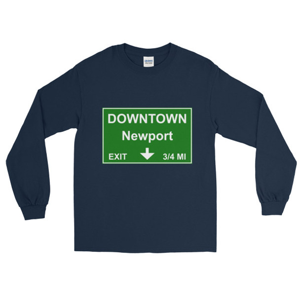 Downtown Newport Exit Long Sleeve T-Shirt