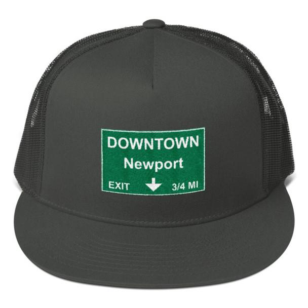 Downtown Newport Exit Mesh Back Snapback