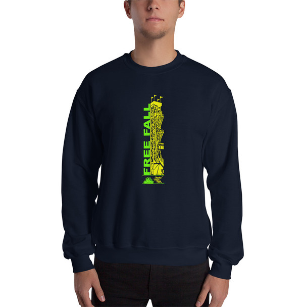 Rocky Point Park Free Fall Green/Yellow Logo Unisex Sweatshirt
