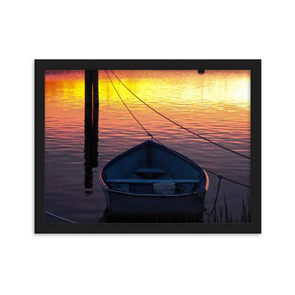 Salt Pond Sunset #001 Framed matte paper poster