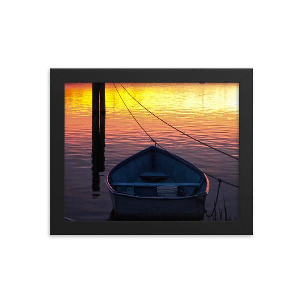 Salt Pond Sunset #001 Framed poster