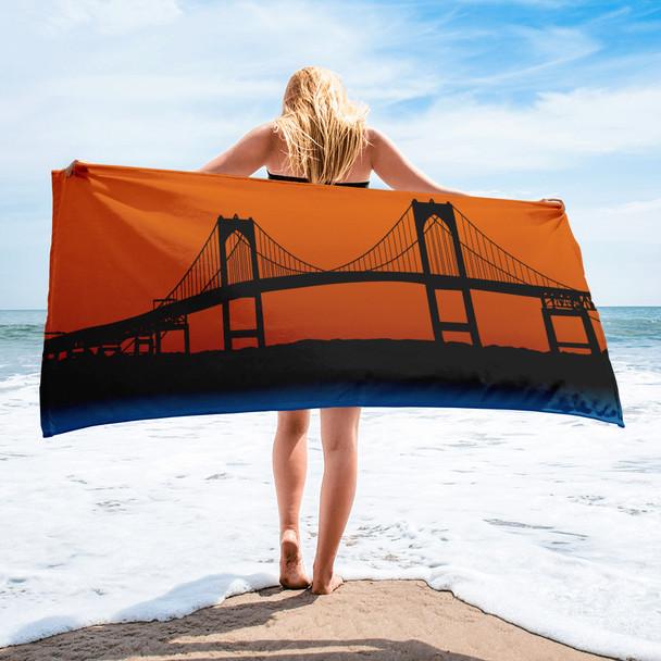 Newport Bridge 001 Towel