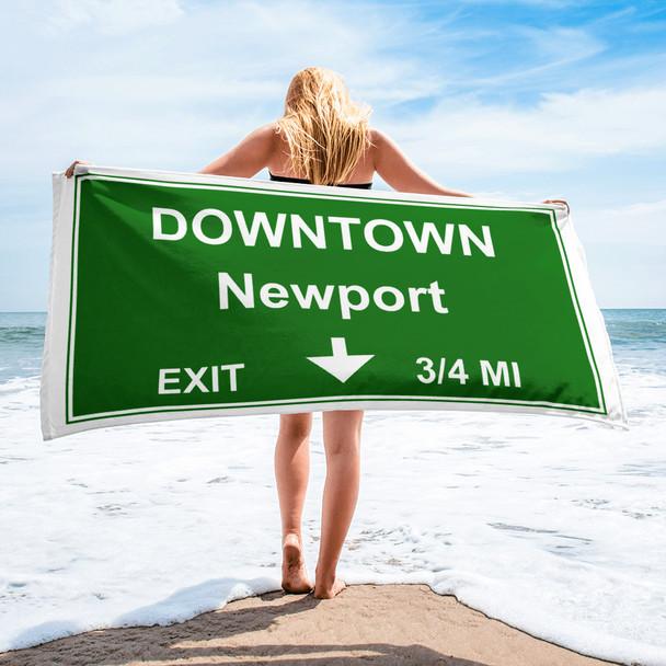 Downtown Newport Exit 001 Towel