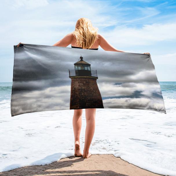 Point Judith Lighthouse 002 Towel