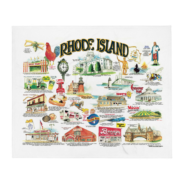 Rhode Island Icons By Frank Galasso Throw Blanket