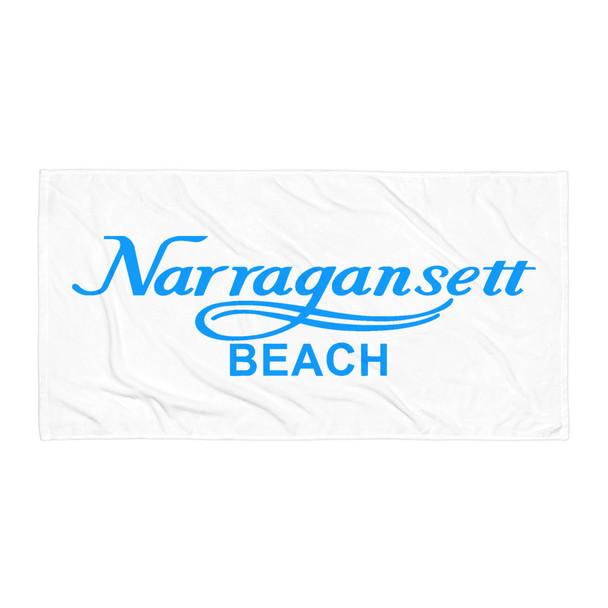 Narragansett Beach Blue Logo Towel