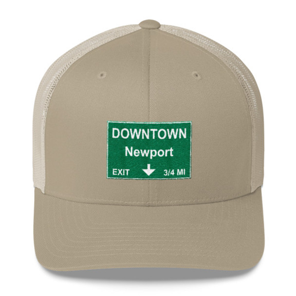 Downtown Newport Exit Trucker Cap