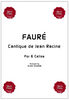 Gabriel FAURE, Cantique de Jean Racine for 6 Cellos