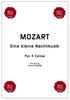 Wolfgang Amadeus MOZART, Eine Kleine Nachtmusik for 4 Cellos