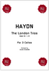 Cover for the cello ensemble sheet music of the London Trios by Haydn for cello trio.