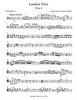 First page from the second cello sheet music of the London Trios by Haydn for cello trio.