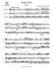 First page of the cello ensemble sheet music of the London Trios by Haydn for cello trio.