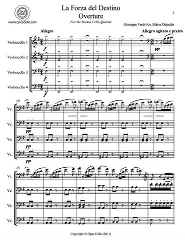 Giuseppe VERDI, La Forza del Destino Overture for 4 Cellos