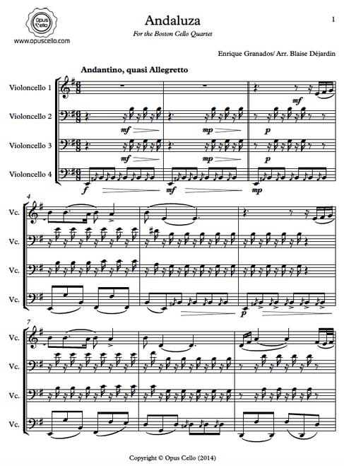 Enrique GRANADOS, Andaluza for 4 Cellos