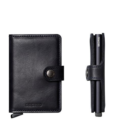 264ad146df Secrid Mini Thin Small Mens Wallet Genuine Leather Vintage Black