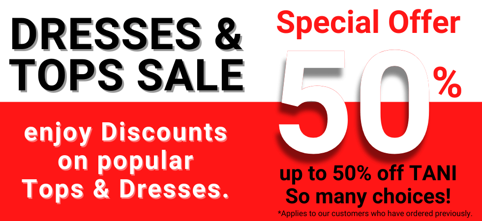Tani Clothing Australia up to 50% off Tops & Dresses