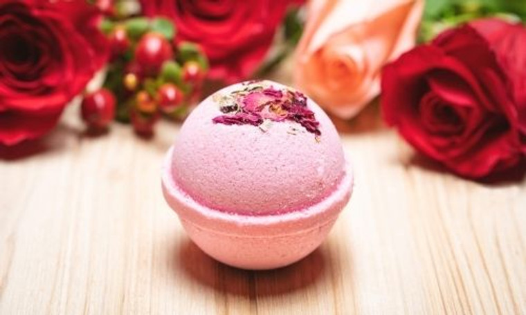 CBD Bath Bombs - red rose