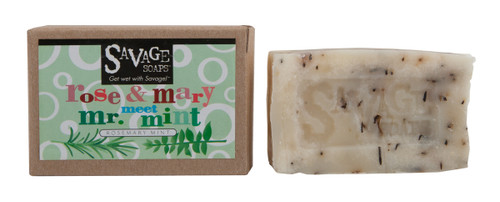 Rose & Mary Meet Mr. Mint - Natural Handmade Soap