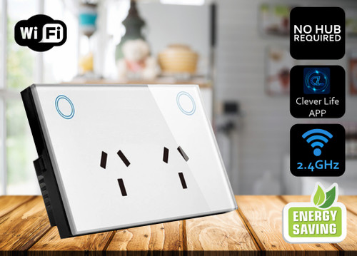 'Pearl' WiFi Enabled SMART Double Power Point