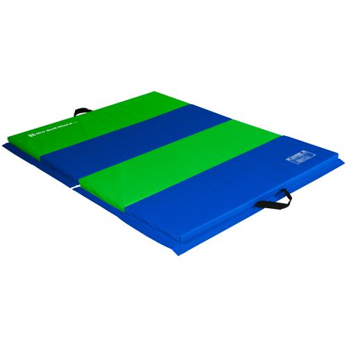 4x6 Blue/Black Exercise Mat