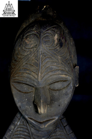 Huge Vintage Carved Sepik River Hook, Upper East Sepik