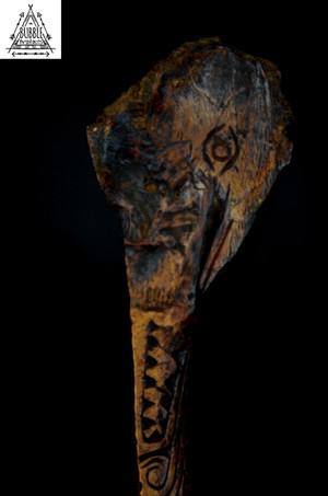 Fine Vintage Wosera Cassowary Bone Dagger