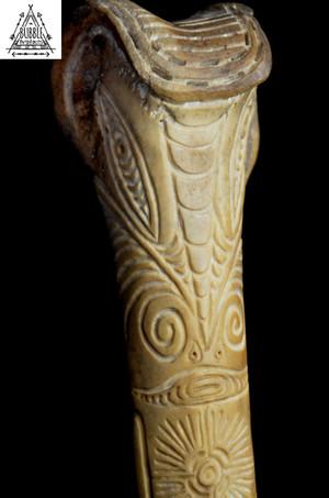 Stunning Fine Vintage Abelam Cassowary Bone Dagger..