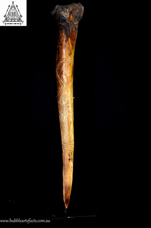 Fine Vintage Maprik Cassowary Bone Dagger.