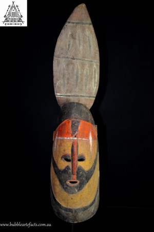 Powerful Wooden Yam Headress Mask, Northern Abelam
