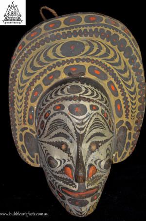 Fine Vintage Carved House Mask, Palembai Village