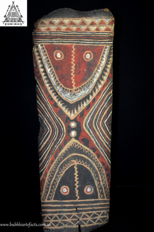 Beautiful Vintage Sago Bark House Panel, Washkuk