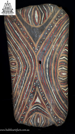 Stunning Vintage Sago Bark House Panel, Washkuk.