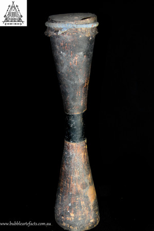Wonderful Carved Kundu Drum, Lower Sepik River