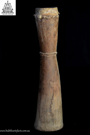 Stunning Carved Kundu Drum, Lower Sepik River