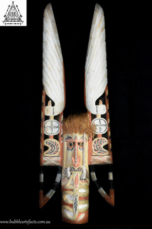 Very Large Powerful Malagan Spirit Mask, Kavieng, New Ireland.