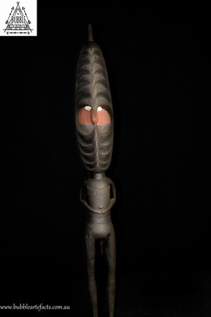 Rare Fine Romkun Male Initiation Figure, Misingi Village, Middle Ramu