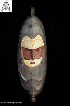 Rare Old Fine Romkun Sacred Flute Mask, Misingi Village, Middle Ramu
