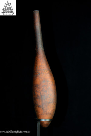 Old May River Incised Lime Gourd, West Sepik
