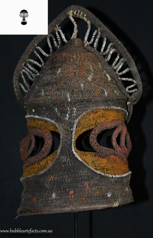 Very Rare Beautiful Female Baba 'Tukua' Helmet Mask, Abelam, Sepik Region.