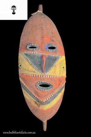 Superb Unusual Fine Rare Ceremonail Dance Mask, Abelam, Lower Sepik Region.