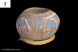 Wonderful Old Fine Abelam Clay Pot, East Sepik