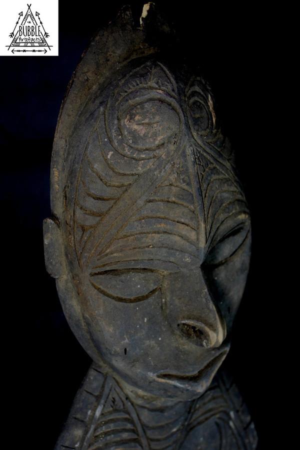 Huge Vintage Carved Sepik River Hook, Upper East Sepik