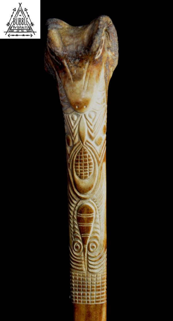 Stunning Fine Vintage Abelam Cassowary Bone Dagger...