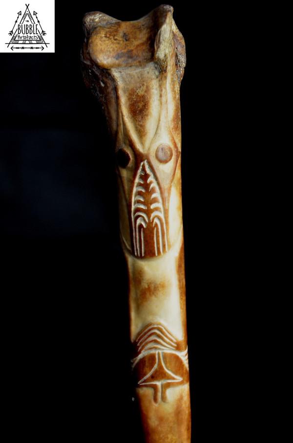 Stunning Fine Vintage Abelam Cassowary Bone Dagger....