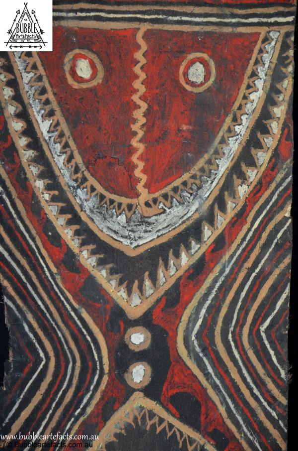 Beautiful Vintage Sago Bark House Panel, Washkuk