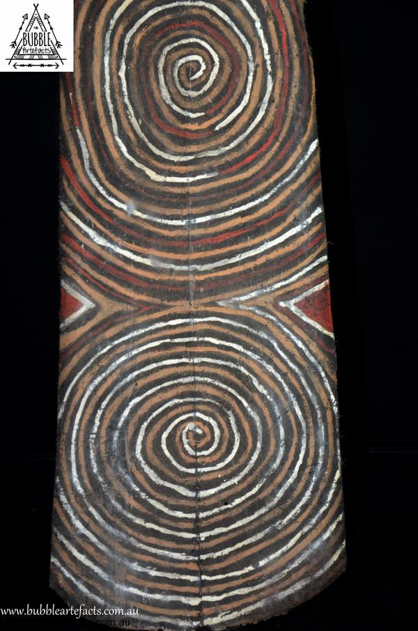 Powerful Vintage Sago Bark House Panel, Washkuk.