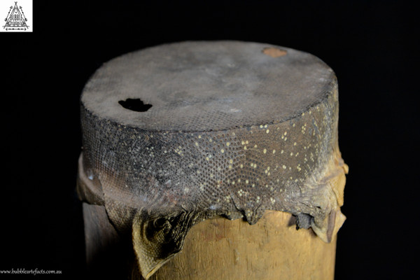 Beautiful Carved Kundu Drum, Lower Sepik River
