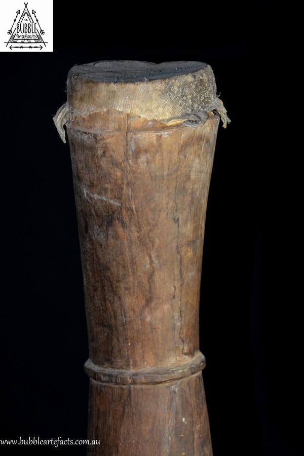 Stunning Carved Kundu Drum, Lower Sepik River