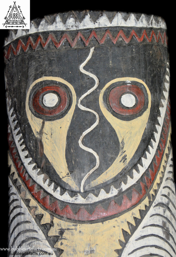 Rare Vintage Tribal War Shield, Kupkein Village, East Sepik